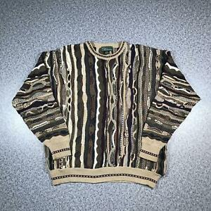 Vintage-90s-CROFT-amp-BARROW-Cosby-Style-Mens-Sweater-XL-3D-Knit-Jumper