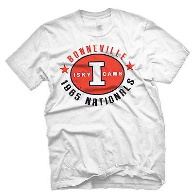 Burt Munro T-Shirt Isky Cams 1965 Nationals retro biker style t-shirt