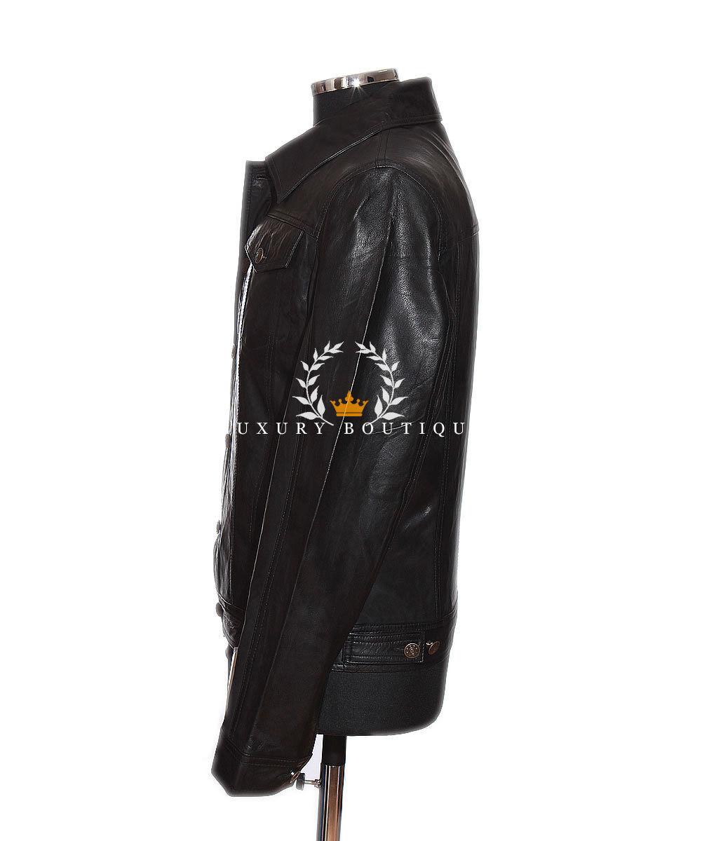 Craig Schwarzes Herren Lässig Elegant Echte Lammleder Weiches Leder Leder Leder Hemd-stil | Ausgezeichnete Qualität  292fb9