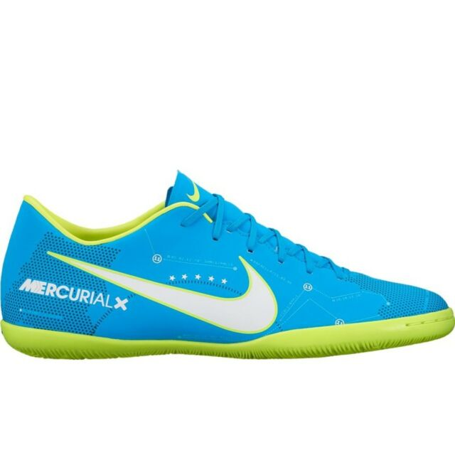 huge selection of fc5c1 8cbec NIKE NEYMAR MERCURIALX VICTORY VI IC INDOOR SOCCER SHOES BLUE ORBIT Mens  size 10