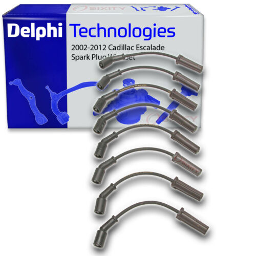 Ignition Coil jf Delphi Spark Plug Wire Set for 2002-2012 Cadillac Escalade