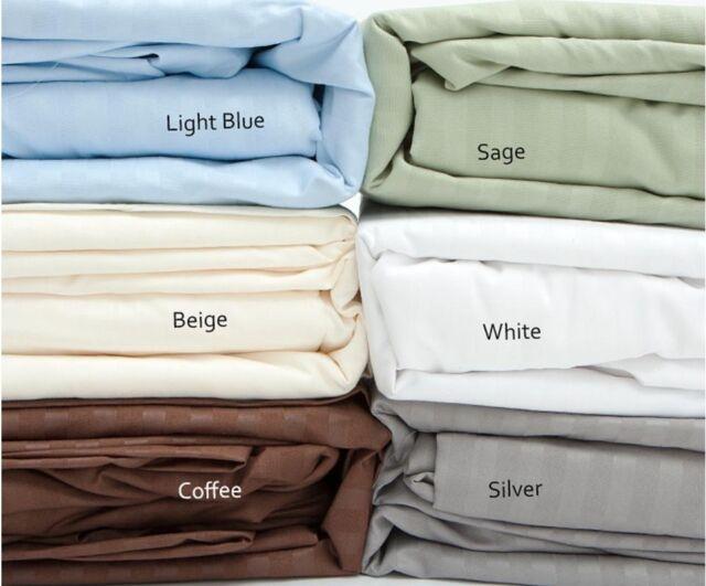 100% Cotton Sateen 500 Thread Count Dobby Stripe Sheet Set
