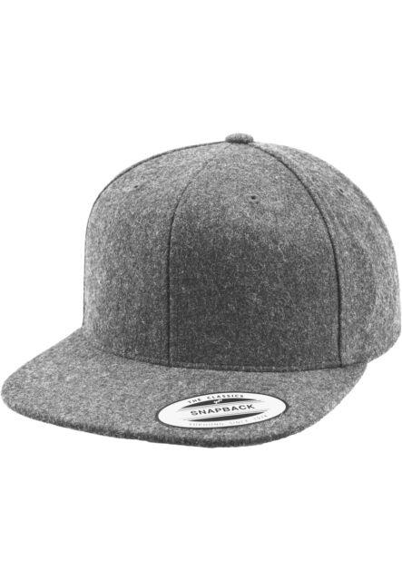 Flexfit Melton Wool Snapback Cap in Heathergrey  72b21d8ba3ee