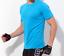 Mens T-Shirt Cool Max Quick-dry Performance Top Function Shirt  Plain Colour
