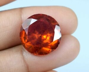 Padparadscha Orange Sapphire 23.50 Ct Round Gemstone Natural Certified A34829