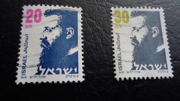 100% De Qualité Israël Timbres, 1986, Mi-nr: Yt964-65, Estampillé