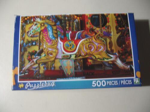 Brand New /& Sealed Puzzlebug 500 pc Puzzle Carousel Horse
