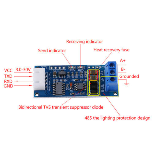 TTL to RS485 Converter Module Hardware Auto Control for Arduino AVR 3.3V//NWUS