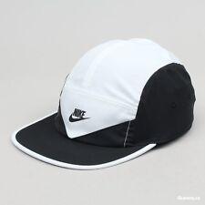 Nike Mens Windrunner Zip Cap AW84 5 Panel Running Dri Fit Black White 902897 100