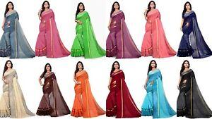 Cotton Silk Saree Indian Designer Party Wear Kanchipuram Pakistani Sari Fancy HR