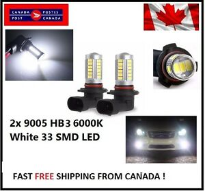 2x-9005-HB3-6000K-White-5630-33-SMD-LED-12V-Auto-Car-Fog-Light-Headlight-Bulbs