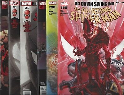 GEMINI SHIPPING AMAZING SPIDER-MAN #797 798 799 800 KIRKHAM Connecting Covers