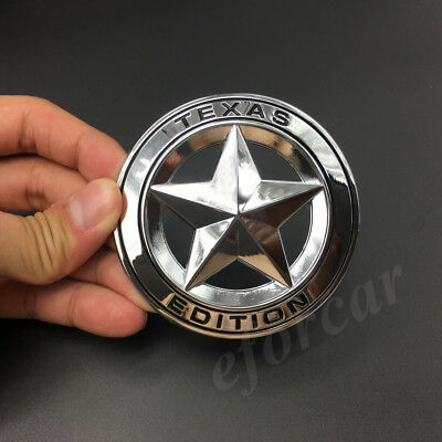 2 X Texas Flag Edition Emblem Badge Sticker Fit For Chevy Ford Dodge Truck Car