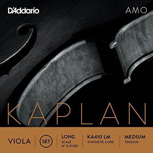D'Addario Kaplan Amo Viola String Set, Long Scale, Medium Tension