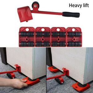5X-Red-Furniture-Mover-Lifter-Easy-Slides-Transport-Lifting-Heavy-Duty-Tool-Set