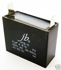 Motor Run Metalized Film Capacitor 8uf 450v Ac 5 1 Piece