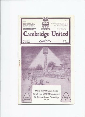 Cambridge United v Cambridge City 26 April 1965 Professional Cup Final