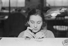 """VITAGE 1936 PHOTO AT HAMILTON WATCH COMPANY IN LANCASTER, PA - 8"""" by 10"""""""
