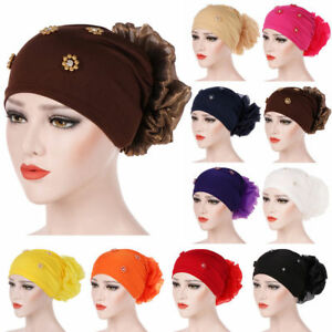 Muslim-Women-Flower-Cancer-Chemo-Hat-Hijab-Hair-Loss-Head-Scarf-Turban-Cap-Wrap