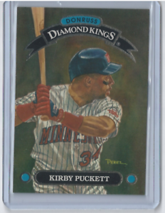 1993-Donruss-Diamond-Kings-4-Kirby-Puckett-Twins-HOF-Insert-Mint