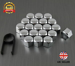 17mm Chrome Stainless Steel Wheel Nut Covers fits CITROEN C5 AIRCROSS