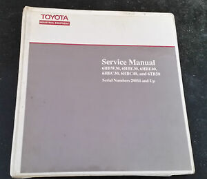 Attractive Image Is Loading TOYOTA FORKLIFT SERVICE MANUAL 6HBW E C TB