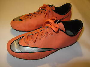 NIKE MERCURIAL KINDER Fußballschuhe Gr. 37,5 Grau, Orange