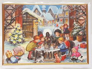 Nostalgische Weihnachtskarten Kostenlos.Details Zu Nostalgische Weihnachtskarte Am Brunnen Doppelkarte Mit Kuvert Sellmer Verlag