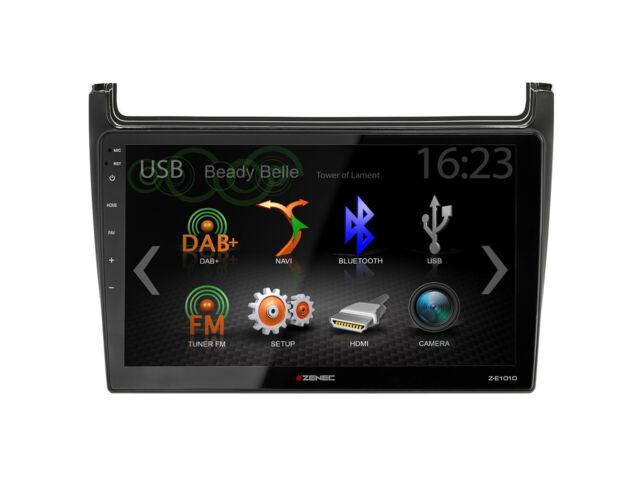 Zenec E > Go Core Z-E1010+Z-F2001 Radio GPS UKW DAB+ BT For VW Polo 6R