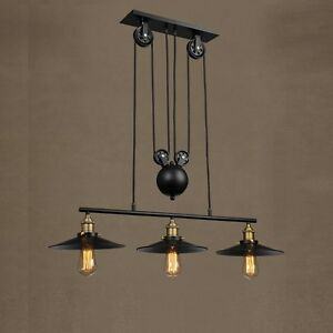 Kitchen-Pendant-Light-Black-Ceiling-Lights-Bar-Lamp-Large-Chandelier-Lighting