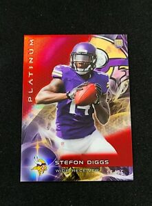 2015-Topps-Platinum-STEFON-DIGGS-RED-REFRACTOR-ROOKIE-25-RC-CHROME-141-Vikings