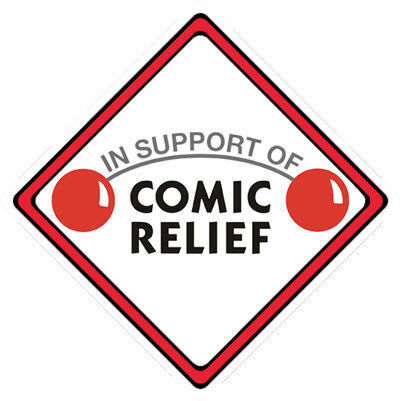 £1 Goes To Comic Relief Charity ~ 16 Red Nose Day Car Window Sign