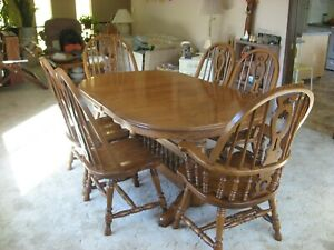Details About Richardson Brothers Oak Dining Room Set China Hutch And Buffet