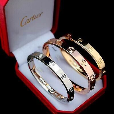 cartier bracelet and ring set