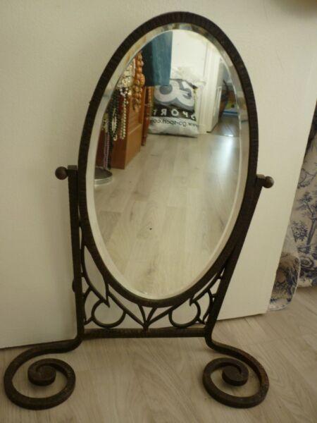 Art Deco Miroir Psyche Lissage De La Circulation Et Des Douleurs D'ArrêT