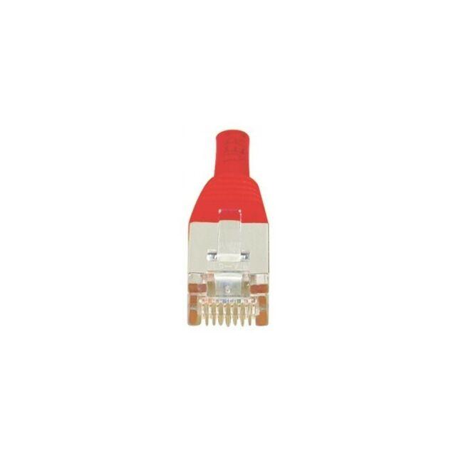 Générique Cordon patch RJ45 F/UTP CAT6 rouge - 3m