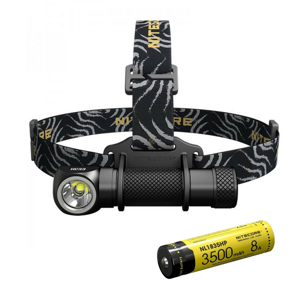 Nitecore HC33 cree XHP35 LED Linterna 1800 LM con batería Nitecore NL1835HP