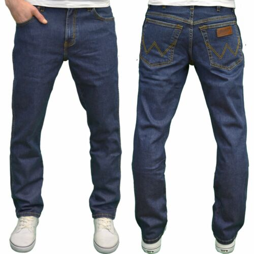 WRANGLER Uomo Texas Darkstone Stretch Regular Fit Straight Leg nuova con etichetta