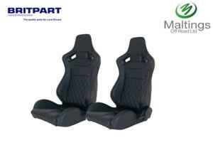 Britpart DA1895 Defender Sport Seat - Black, Set of 2