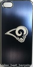 NFL St Louis STL Rams Etched Logo iPhone 5 5s Brushed Metal Phone Case