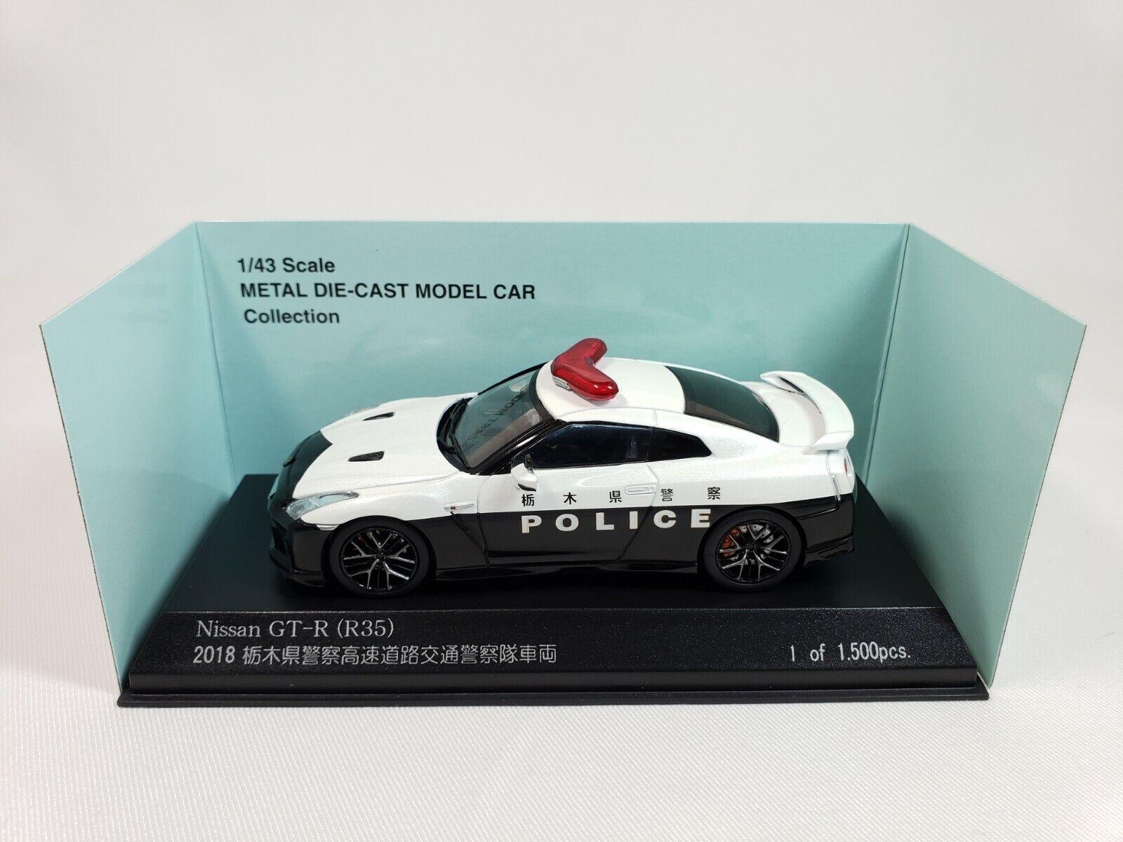 1 43 KYOSHO RAI'S Nissan Skyline GT-R R35 Facelift 2018 Japon patrouille de police voiture