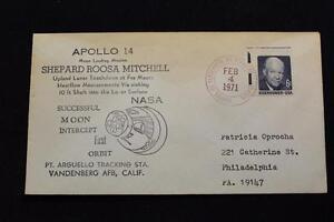 Space-Cover-1971-Mano-Annullo-Postale-Apollo-14-1ST-Moon-Orbit-PT-Arguello-Pista