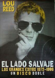 LOU-REED-EL-LADO-SALVAJE-SPANISH-BIG-PROMO-POSTER-100cm-X-140cm-MUY-RARO