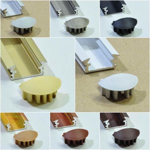 Aluminium Alu Profile AluProfil eloxiert LED versch. Farben Leiste Abdeckung P1