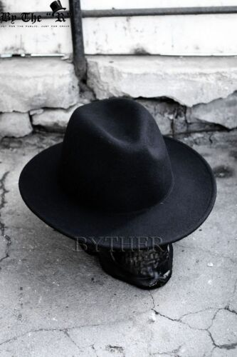 2 of 12 ByTheR Men s Solid Classic Beige Soft 100% Woolen Felt Folded Top Fedora  Hat c3f3d3e61ea4