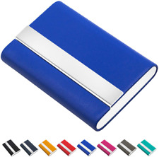 Padike Business Card Holder Business Card Case Luxury Pu Leather Stainless St