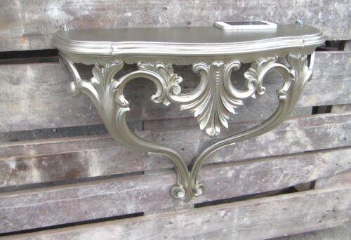 Wandkonsole Antiksilber Barock 57cm Wandregal Konsole Antik Blumenregal Ablage