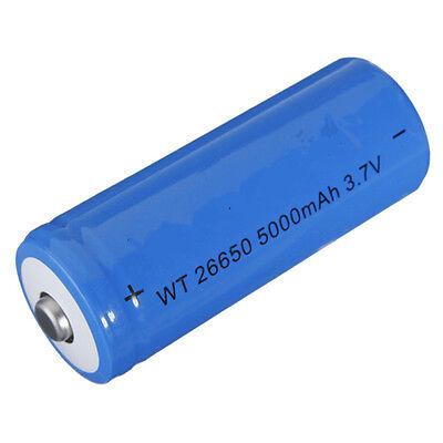 26650 3.7v 5000mah Rechargeable Li-ion Battery for Flashlight Headlamp LED