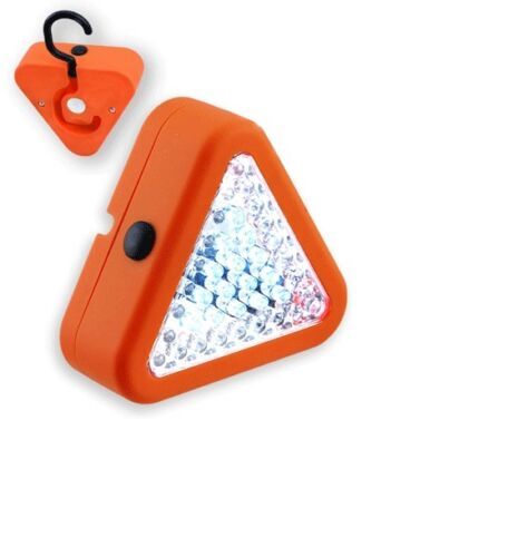3 Function Orange Black Color Triangle Safety Work Light Road Emergency Tow LED