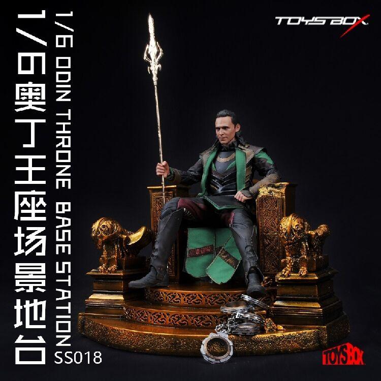 Plataforma de escena de pantalla de 1 6 Figura De Acción Para Juguetes Modelo Loki Odin-Caja SS018
